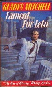 [PDF] [EPUB] Lament for Leto (Mrs. Bradley, #44) Download by Gladys Mitchell