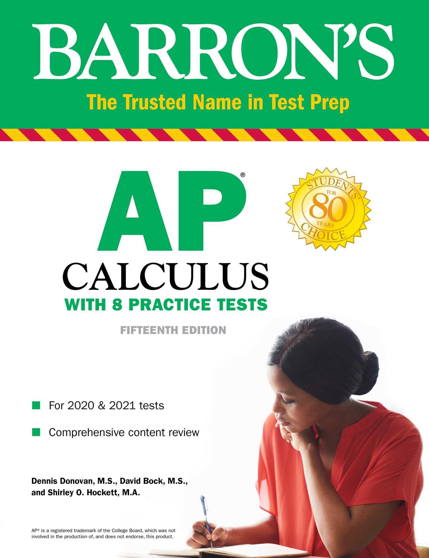 [PDF] [EPUB] AP Calculus: With 8 Practice Tests Download by Dennis Donovan