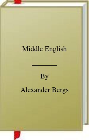 [PDF] [EPUB] Middle English Download by Alexander Bergs