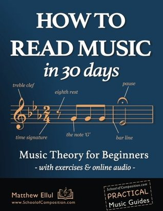[PDF] [EPUB] How to Read Music in 30 Days: Music Theory for Beginners - with exercises and online audio Download by Matthew Ellul